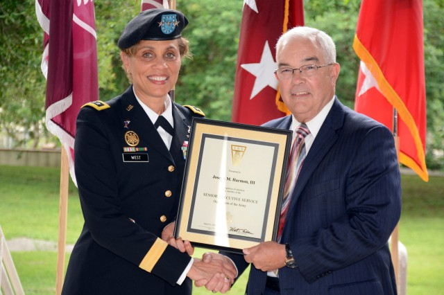 Lt. Gen. Nadja Y. West, The Surgeon General of the U.S. Army and commanding general, U.S. Army Medical Command with Joseph M. Harmon III, deputy to the Commanding General, U.S. Army Medical Department Center and School, Health Readiness Center of Excellence.