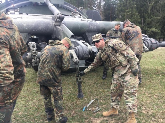 1st Security Force Assistance Brigade's Combat Engineer Advisors sharpen skills at Allied Spirit X