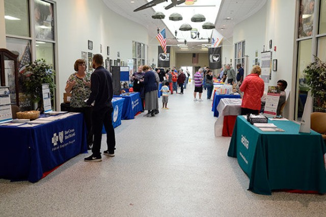 Representatives from 35 organizations including the American Red Cross, Tennessee Valley Healthcare System and Blanchfield Army Community Hospital were on hand to field questions from retirees and their spouses during the 2018 Retiree Appreciation Day at the Soldier Support Center, Fort Campbell, Ky.