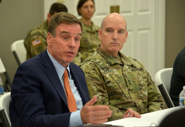 Senator Warner Tours Fort Lee, Conducts Roundtable