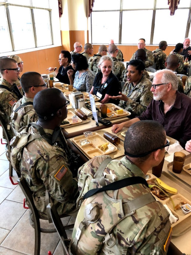 Educators Dine with Infantry OSUT Soldiers