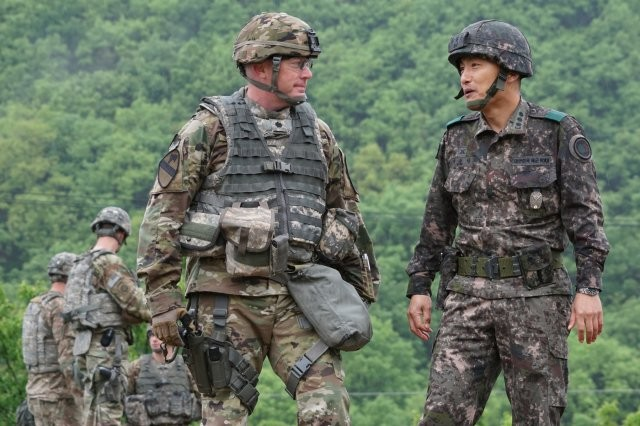 The RIC-U is a follow-up to the Radio Interoperability Capability -- Korea, which was a customized tactical radio communication link designed specifically for direct, secure communication between U.S. and South Korean Soldiers on the Korean Peninsula.