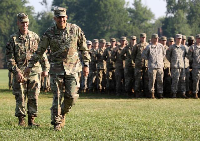 Gen. Stephen J. Townsend attends 5th Regiment, Advanced Camp's graduation
