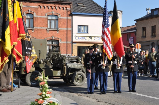 On May 8, 2018, the towns of Chièvres and Brugelette commemorated Victory in Europe day during a wreath-laying ceremony. Victory in Europe Day was the day on which Allied forces announced the surrender of Germany in Europe. It is then considered the end of World War II in Europe.