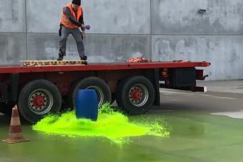 Garrison environmental, firefighters conduct HAZMAT training