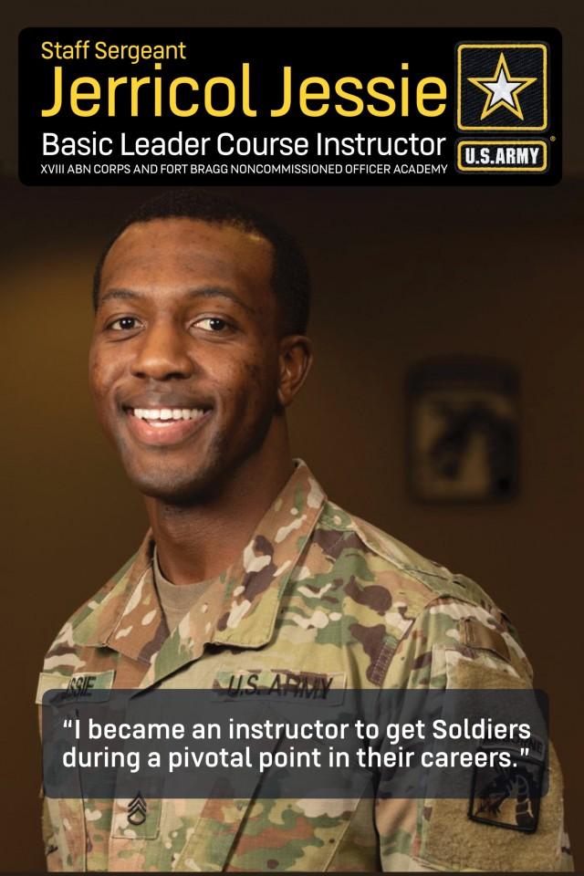 Army, Fort Bragg NCO instructor spotlight: Staff Sgt. Jerricol Jessie