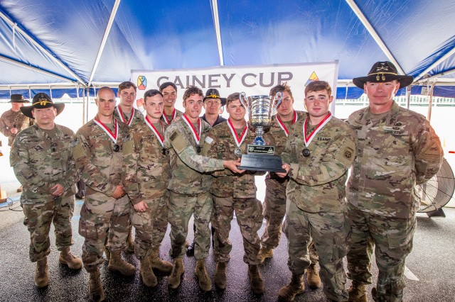 "After several days of Cavalry scout-related tasks, 5th Squadron, 73rd Cavalry Regiment, 82nd Airborne Division, won the fourth biennial Gainey Cup International Scout Squad Competition, May 3, at Brave Rifles Field on Fort Benning, Ga. The 5th Squadron from Fort Bragg, North Carolina earned the title of ""Best Scout Squad"" against 24 other competing squads from across the U.S. Army and from international partner militaries, including Canada, Germany, Great Britain, and the Netherlands. The Gainey Cup tested the Cavalry scout squads on their ability to perform their job in the field."