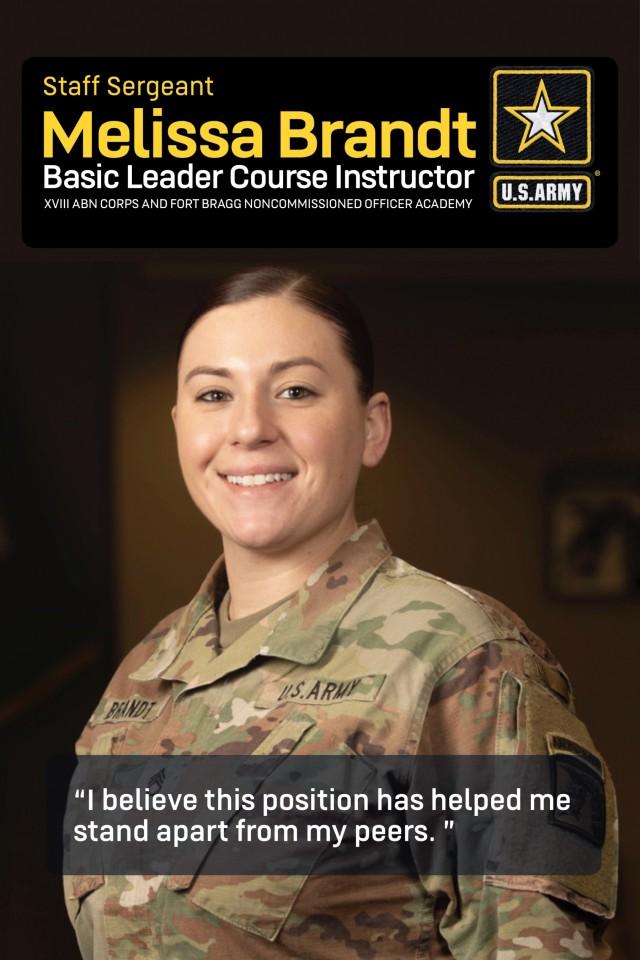Army, Fort Bragg NCO instructor spotlight: Staff Sgt. Melissa Brandt