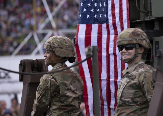 U.S. Army Soldiers participate in Poland's Military Parade