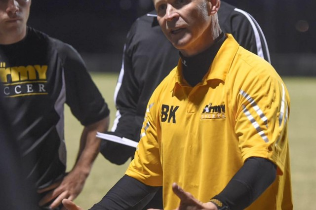 Col. Bernie Koelsch, the Army team's head coach, had a month to prepare his players during training camp at Fort Hood, Texas.  The team went on to win the 2019 Armed Forces Men's Soccer Championship held at Naval Station Everett, Wash., April 14-20, 2019.