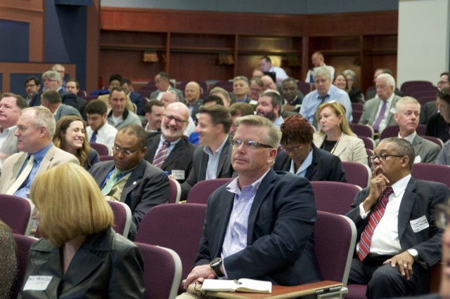 Nearly 400 industry representatives attended the Enterprise IT as a Service collaboration day at Fort Belvoir, Virginia on May 7, 2019.