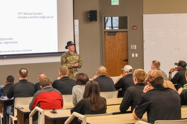 Officers visit  UCCS ROTC cadets