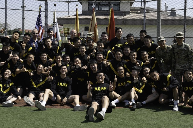 At the May 3 closing ceremony, held at Soldier field, the unit winners for each event were announced. The overall first place winner for the week was 2nd Combat Aviation Brigade (2nd Infantry Division). (U.S.Army Photo by Pfc. Erickah Schaible)