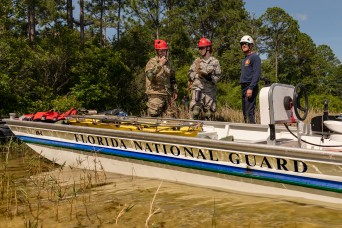 Florida National Guard rehearses with civilian rescuers