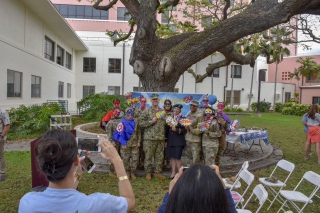 """Tripler Army Medical Center kicked-off National Nurses Week with an opening ceremony to honor all nurses; and to also unveil """"Pualani,"""" a bronze statue of a Vietnam-era nurse formerly named, """"Nurse,"""" also referred to as, """"The Lady,"""" at Tripler's Regimental Park, May 6."""