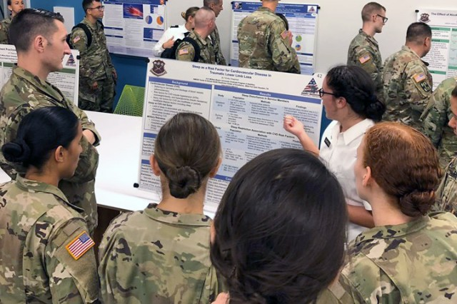 2LT Emily Chapman, U.S. Military-Baylor Graduate Program in Nutrition, discusses her research of sleep quality, quantity, and cardiovascular disease risk in patients with traumatic limb loss.