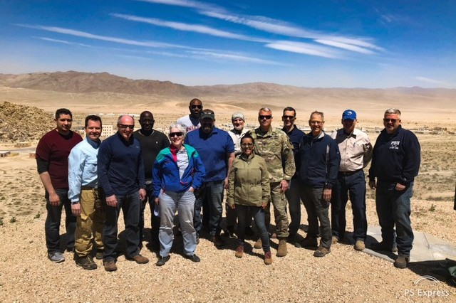 Members of the U.S. Army Combat Capabilities Development Command's Army Research Laboratory pose for a photo during their recent trip to the National Training Center in Fort Irwin, California, where they observed and gained perspective on how our Soldiers are trained, and learned what technical challenges they may face on the battlefield.