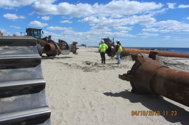 Weeks Marine mobilize for East Rockaway Inlet Dredging Project.