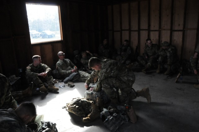 Fifteen Soldiers from Army Reserve Medical Command recovered after completing the ruck march portion of the competition on the morning of April 16th, completing more than six miles with heavy gear. The Soldiers arrived on April 13th, prepared to compete in the command-level Best Warrior Competition for 2019 held April 13-17 at Joint Base Lewis McChord, Washington. The Best Warrior Competition recognizes Soldiers who demonstrate commitment to the Army values, embody the Warrior Ethos and represent the force of the future.
