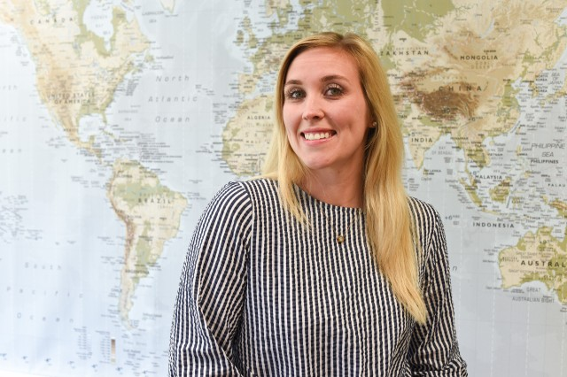 Erinn K. Burgess, Public Affairs specialist with U.S. Army Garrison Rheinland-Pfalz, was recently named the garrison's Army Professional of the Second Quarter for expertly creating the USAG RP website that won a Department of the Army award.