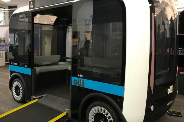 Olli, a level-four autonomous vehicle, will begin mapping and collecting data on Joint Base Myer-Henderson Hall.
