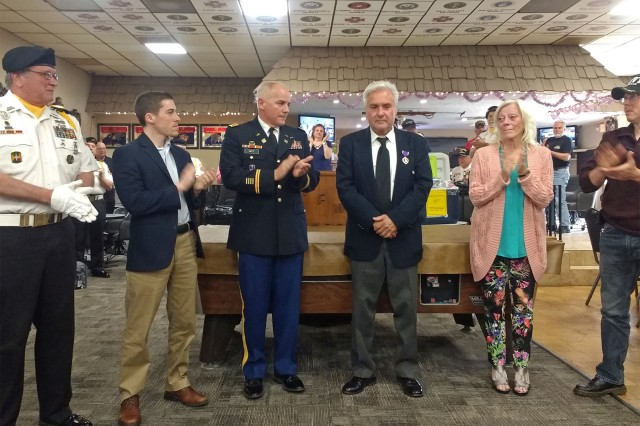 Charles (Chuck) W. Baurhenn was wounded in Vietnam on August 19th, 1969 and later discharged, but did not receive a Purple Heart he earned. Nearly 50 years later, Col. Jeffrey D. Witt, the Chief of Staff of the U.S. Army Tank-automotive and Armaments Command (TACOM), presented the Purple Heart to Baurhenn and Alex Aprile, Constituent Resources Coordinator for Congressman Paul Mitchell, presented Baurhenn with a Vietnam Veteran lapel pin and certificate.