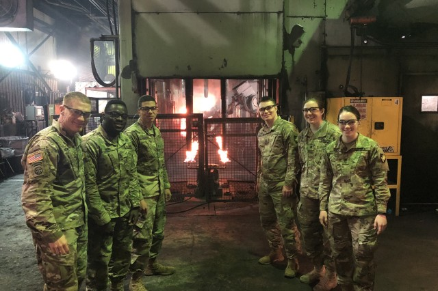 The USMA Cadets toured Scranton Army Ammunition Plant to witness first-hand how munitions are produced, stored and demilitarized.  (Photo credit: U.S. Military Academy)
