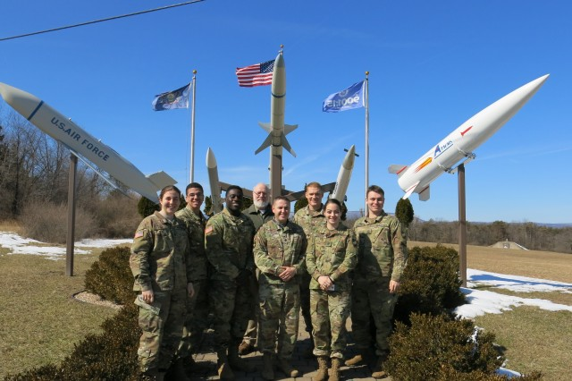 USMA Cadets toured a number of JMC's installations, including Letterkenny Munitions Center, where they posed for a photo with LEMC leadership.  (Photo credit: U.S. Military Academy)