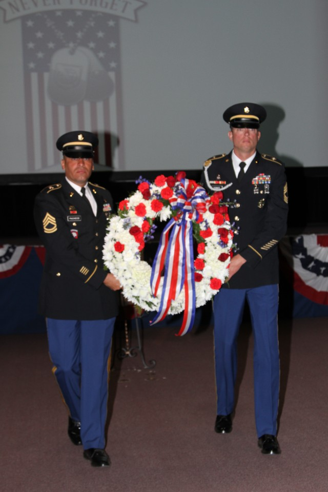 Honor Guard Carries Signal Cove of Remembrance Wreath