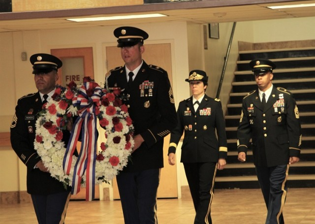 Honor Guard Leads Way with Memorial Wreath