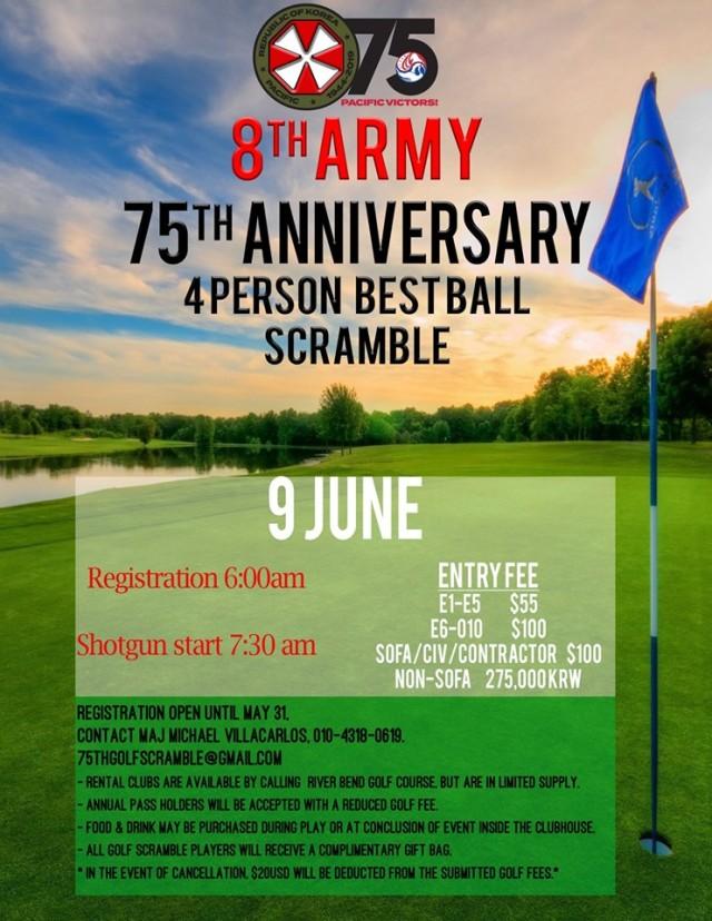 Eighth Army 75th Anniversary Golf Scramble