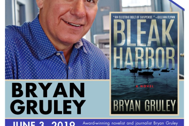 Award-winning author Bryan Gruley will visit Fort Knox's Barr Memorial Library at noon June 3, 2019, as part of the Authors at Your Library program.