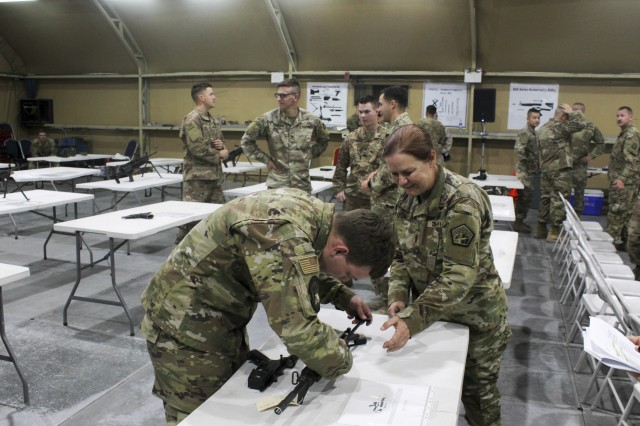 Warrior skills showcased during the Best Cyber Warrior Competition