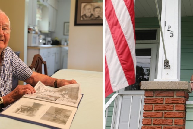 Command Sgt. Maj. Michael Gragg, U.S. Army Medical Command, will honor the selfless sacrifice and military service of Staff Sgt. Felix J. Lisovich, a 96-year-old World War II combat medic who lives just south of Pittsburgh, Pennsylvania. Lisovich is strongly independent, shown here in his kitchen and front porch in recent photographs.  On behalf of Lt. Gen. Nadja Y. West, U.S. Army Surgeon General and Commanding General, U.S. Army Medical Command, Gragg will visit the World War II veteran's hometown of Belle Vernon, Pennsylvania.  Gragg will present Lisovich with a Regimental Honor Certificate, the Order of Military Medical Merit, and a letter of recognition signed by West, the 44th Army Surgeon General.  The American Legion will host the presentation May 28 at 11 a.m., in Belle Vernon.