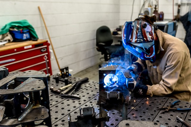 Due to the nature of the job, welders are required to wear extensive safety gear to protect their skin, eyes and more from the precise flame. Personal protective equiptment for welding includes, but is not limited to a welding specific helmet, long sleeves and gloves.