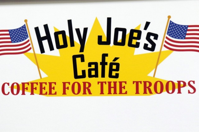 Holy Joe's, a resilency center at Camp Arifjan, Kuwait, has books, video games, and coffee for Soldiers who need a break, May 20, 2019. (U.S. Army National Guard photo by Sgt. Connie Jones)
