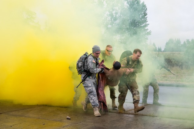 Madigan Army Medical Center's graduating residents and interns participate in the CAPSTONE field training exercise May 15 and 16.