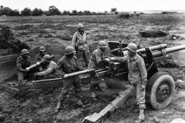 The M5 gun was issued to tank destroyer battalions during World War II, but retired after the war due to its weight.