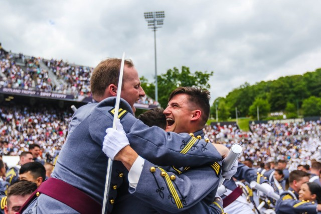 The U.S. Military Academy at West Point holds their graduation and commissioning ceremony for the Class of 2019 at Michie Stadium in West Point, N.Y., May 25, 2019. This year, 985 cadets graduated. Among them were 10 international cadets. The class includes 221 women, 110 African-Americans (32 are women; the most for any class in academy history), 79 Asian/Pacific Islanders, 88 Hispanics and seven Native Americans. There are 119 members who attended the U.S. Military Academy Preparatory School (98 men and 21 women). There are 60 class members who are prior service, 11 of those are combat veterans. In attendance were commencement speaker Vice President Mike Pence, Secretary of the Army Mark T. Esper and Chief of Staff of the Army Gen. Mark A. Milley. Each year, USMA graduates officers who are leaders of character committed to the values of duty, honor, country. (U.S. Army Photo by Brandon O'Connor)