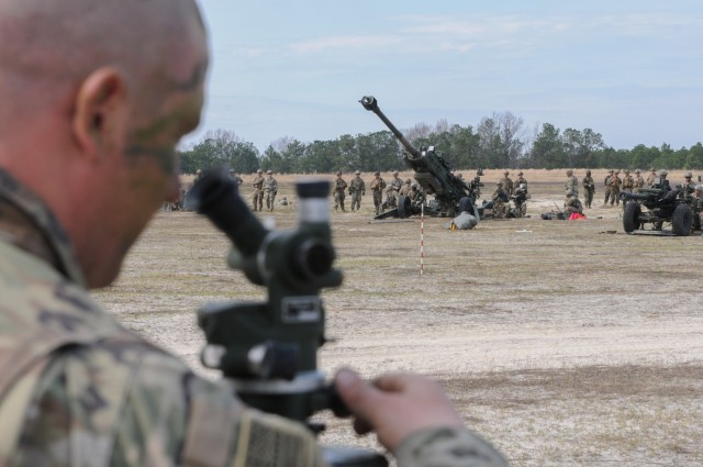 3rd Brigade Artillery Paratroopers Jump, Conduct Live Fire from Bragg Drop Zone