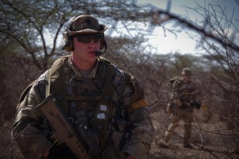 U.S. and British Paratroopers conduct Live Fire training in Kenya