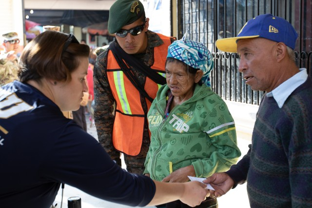 San Sebastián, Huehuetenango, Guatemala, residents check in to receive medical and dental care May 20, 2019 at a medical readiness training exercise during Beyond the Horizon 2019. Guatemala Ministry of Public Health, U.S. Forces, Florida International University non-governmental organization, Guatemala Ministry of Social Services and Guatemalan forces provided medical, dental and pharmaceutical care to more than 3,700 San Sebastián residents at the Beyond the Horizon 2019 medical readiness training exercise May 20-24, 2019. Beyond the Horizon is an annual exercise designed to build partner nation capacity for civil and military response to major disasters and the relationships built and sustained through this exercise demonstrate the ability of the U.S., and regional partners, to access and execute disaster relief activities throughout Central America.