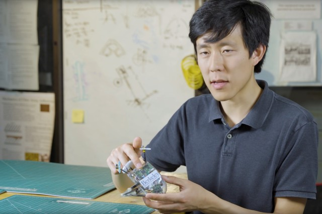 UC Berkeley robotics graduate student Justin Yim discusses his jumping robot, Salto, which is funded by the U.S. Army.