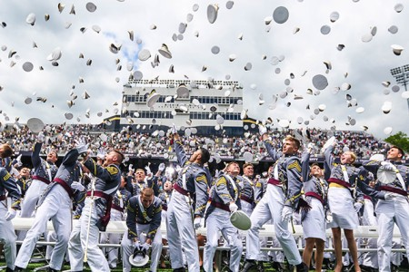 The U.S. Military Academy at West Point held their graduation and commissioning ceremony for the Class of 2019 at Michie Stadium in West Point, N.Y., May 25, 2019. This year, 985 cadets graduated. Among them were 10 international cadets. The class includes 221 women, 110 African-Americans (32 are women; the most for any class in academy history), 79 Asian/Pacific Islanders, 88 Hispanics and seven American Indians. There are 119 members who attended the U.S. Military Academy Preparatory School (98 men and 21 women). There are 60 class members who are prior service, 11 of those are combat veterans.