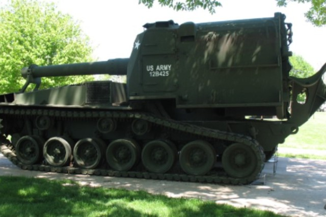 The M55, shown here at Memorial Field, weighed over 48 tons.