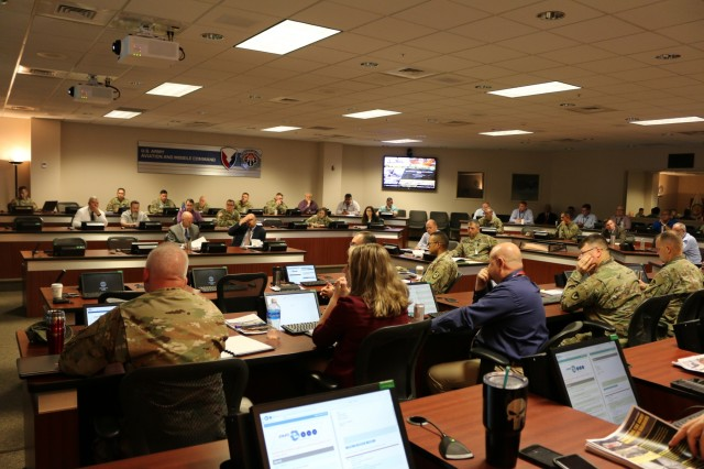 More than 60 senior Army aviators, logisticians and maintainers from across the Aviation Branch tackled during the 2019 Worldwide Aviation Logistics Conference, held at the U.S. Army Aviation and Missile Command Headquarters in Huntsville May 21-23.
