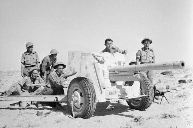 The M1 anti-tank was first used in World War II during the North African Campaign.