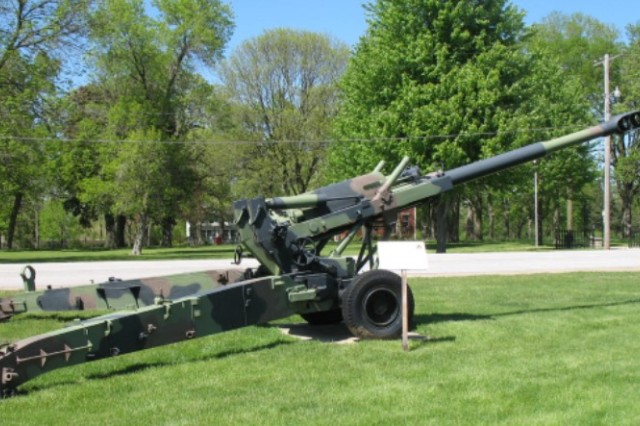 Rock Island Arsenal designed, developed and produced the M198 howitzer, shown here at Memorial Field.