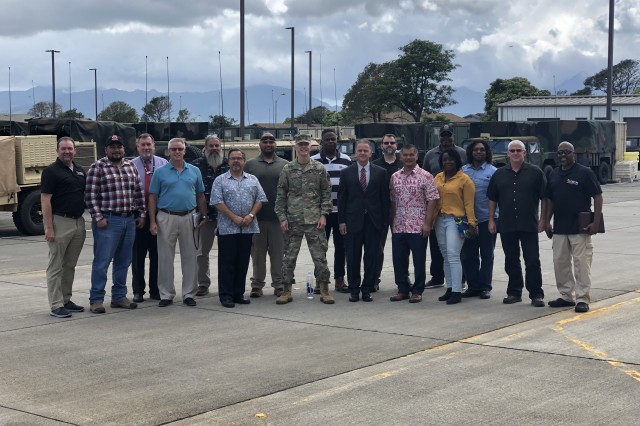 Maj. Gen. Randy S. Taylor, commanding general of the U.S. Army Communications-Electronics Command, visited the CECOM Forward Element - Pacific on May 29, 2019, in Wahiawa, Hawaii, and took the time to meet with the entire team.