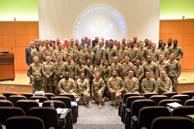 Chaplains, religious affairs specialists, and guest speakers at the U.S. Army Intelligence and Security Command's (INSCOM) annual Unit Ministry Team (UMT) Training, Camp Dawson Event Center, Kingwood, West Virginia, April 29-May 3.
